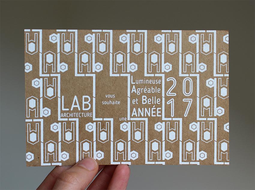 Lab architecture vous souhaite une très bonne année 2017!