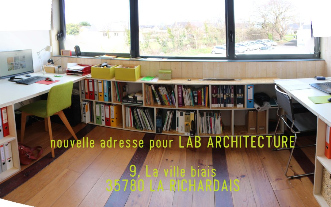 Nouvelle adresse pour Lab architecture!