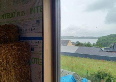 Habillage chêne des fenêtre en bord de Rance