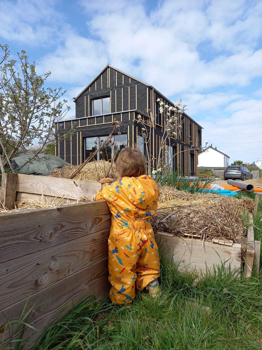 Maison bois passive vue extérieure