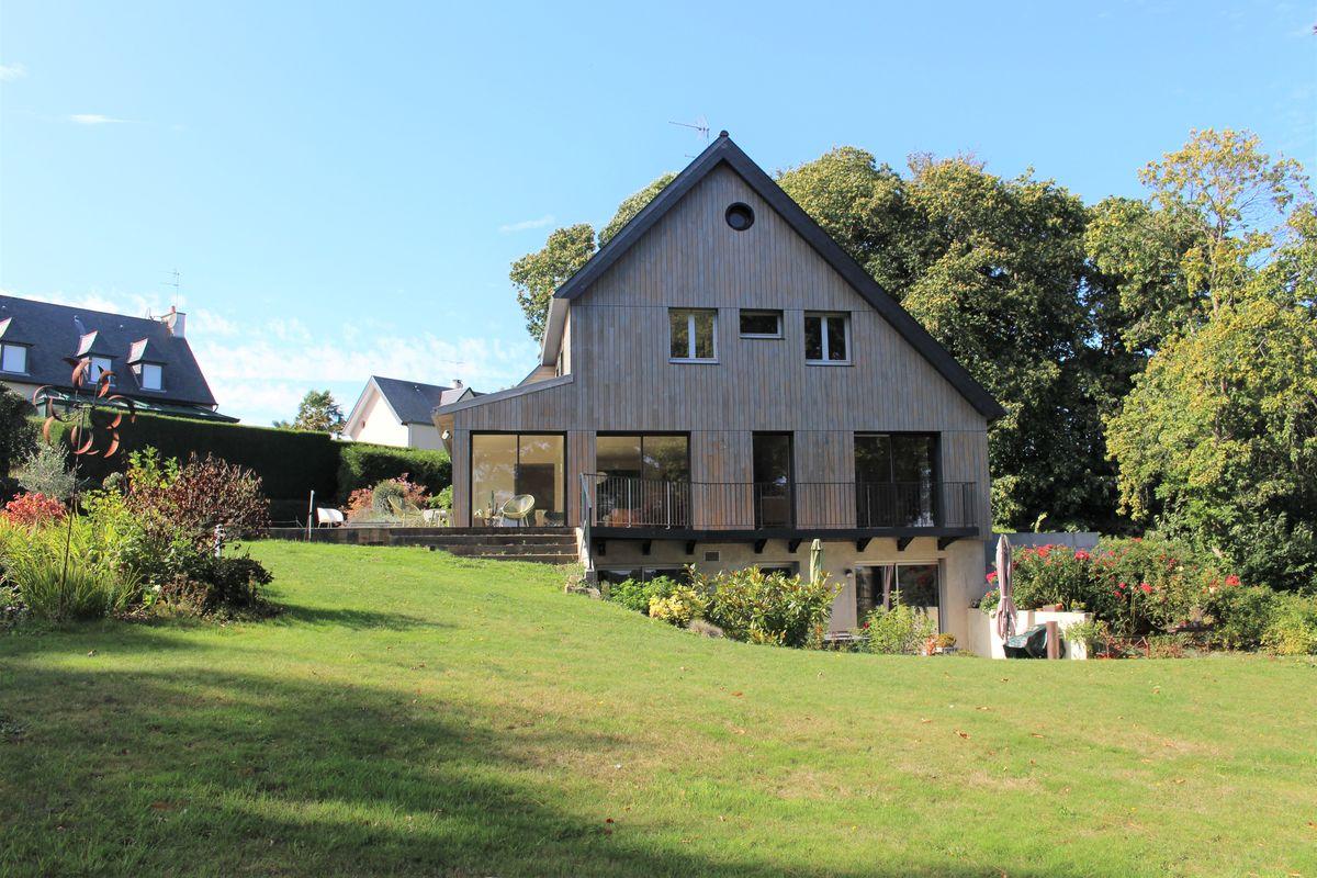 Rénovation écologique et extension de maison Dinard bardage bois