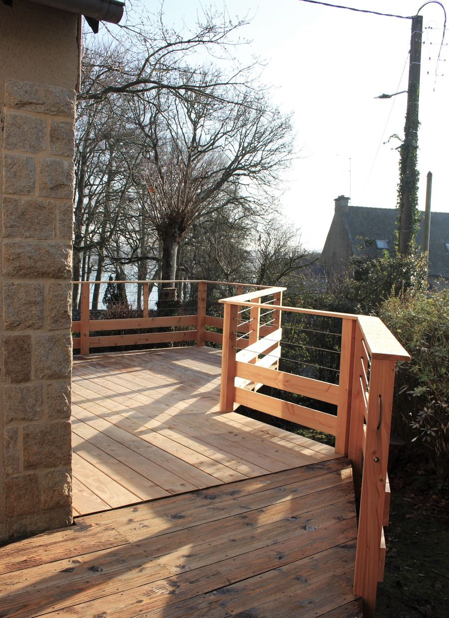 Terrasse bois en douglas avec vue