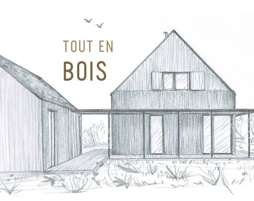 Projet de construction d'une maison écologique bioclimatique