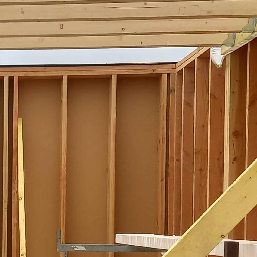 ossature bois pour construction de maison passive